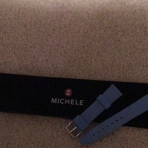 Michele Blue Rubber New 18 Watch Band